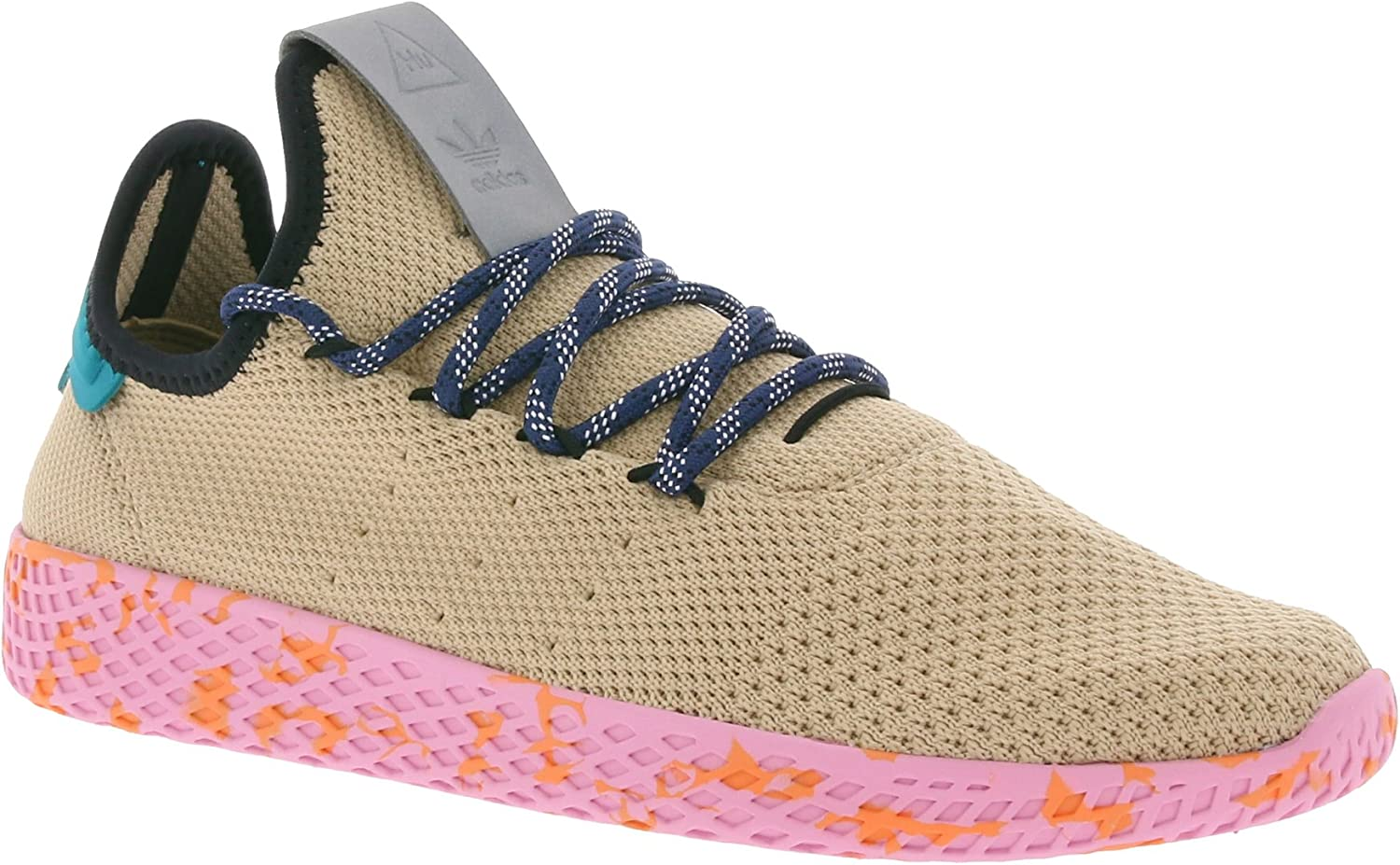 Adidas Originals Pw Tennis Hu Mens Synthetic Material Trainers Beige