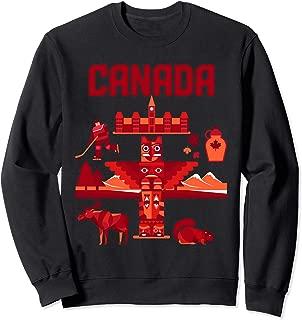 Canadian Gifts Moose Ice Hockey Player Canada Sweatshirt