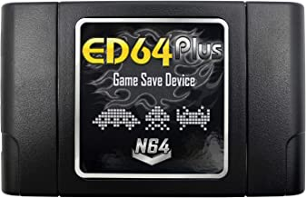 OSTENT PAL/NTSC ED64 Plus Game Save Device Cartridge 8GB SD Card Adapter Compatible for N64 Games