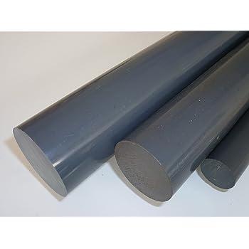 L: 1500mm PVC-U Kunststoffstab auf Zuschnitt 150cm PVC Rundstab grau /Ø 35mm