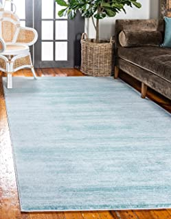 Unique Loom Uptown Collection by Jill Zarin Collection Textured Modern Turquoise Area Rug (8' 0 x 10' 0)