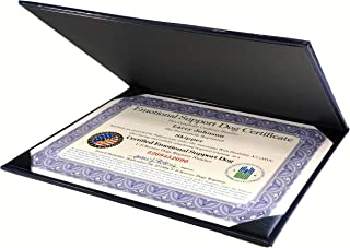 Leather Presentation Folder with Certified & Fully Customized Emotional Support Dog Certificate & 1 Handler/Dog Information ID Card – Includes Free Registration at U S Service Dogs Registry