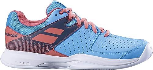 Babolat Femmes Pulsion Clay Clay Chaussures De Tennis Chaussure Terre Battue Bleu Clair - Rouge 36  protection après-vente