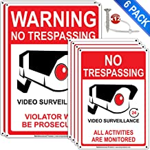 6Packs No Trespassing Signs Private Property 7