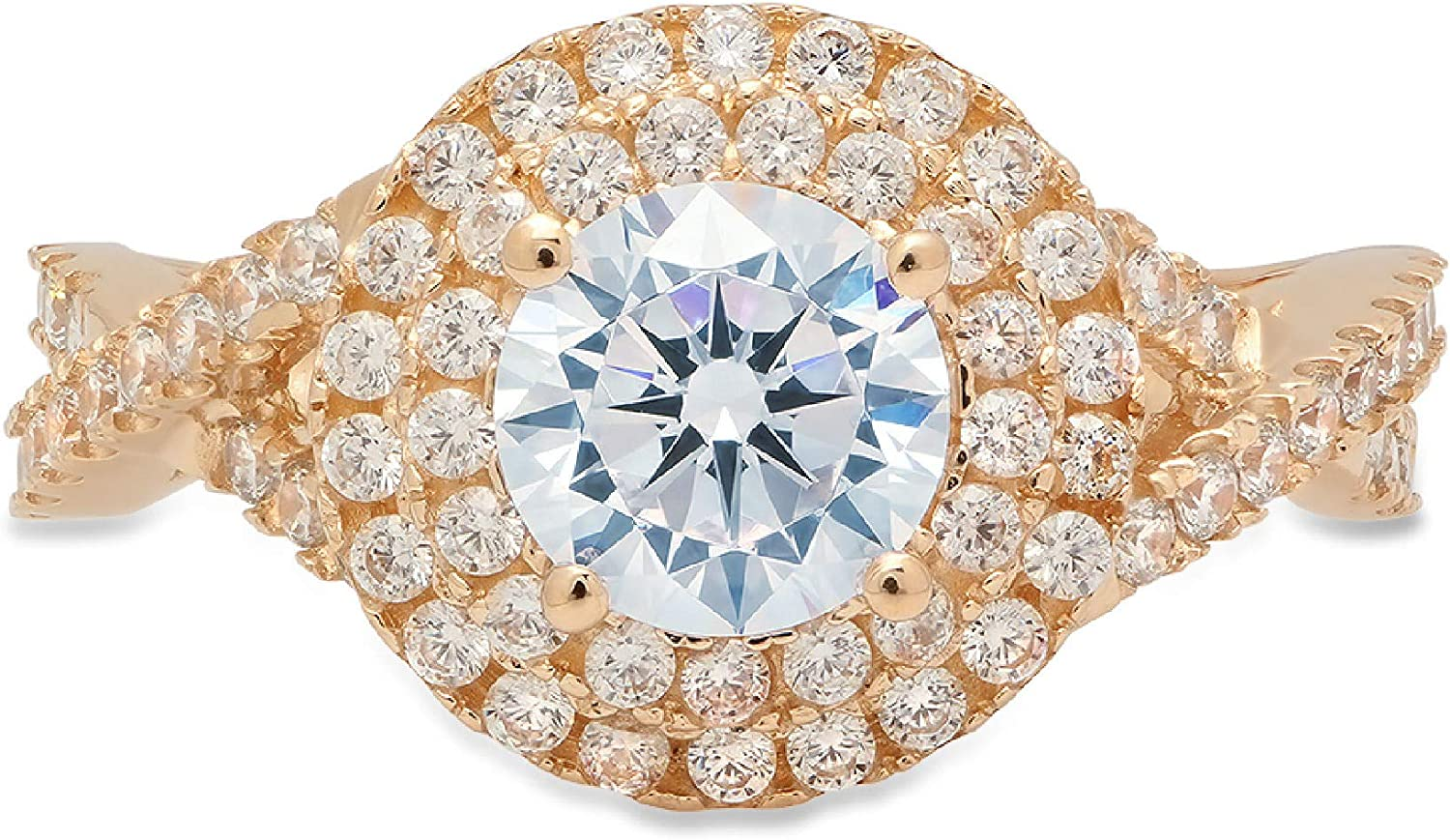 1.40 Cheap mail order shopping ct Round Cut Solitaire double Flawless b Classic Swiss halo Super beauty product restock quality top!