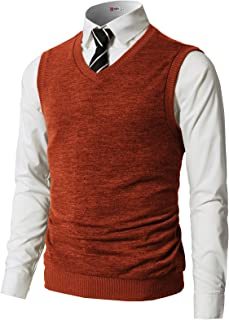 H2H Mens Casual Slim Fit Pullover Sweaters Vest Knitted Thermal Basic Designed