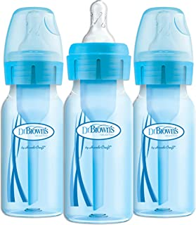 Dr. Brown's Options+ Baby Bottles, 4 Ounce, Blue, 3 Count