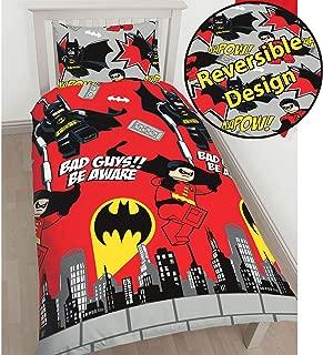 Lego DC Superheroes Batman Kapow Single/US Twin Duvet Cover Set - Rotary Design