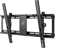 Famgizmo Soporte de Pared para TV de 32-70 Pulgadas (81-178cm), ±15°Inclinable, VESA 100x100-600x400mm, Carga 95kg, para Televisores de Pantalla Plana LED LCD Plasma Curvada, con Nivel de Burbujas