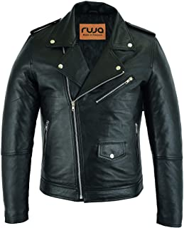 Sponsored Ad - Ruja Men's Classic Perfecto Lambskin Leather Casual Jacket