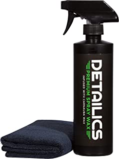 Detailics Car Wax Kit - Best Spray Wax & Top Coat Car Polish & Hybrid Wax - Enriched with Liquid Carnauba for a Deep Hydrophobic Mirror Shine on Any Surface - 16 Ounce Car Detailing Kit (16oz)