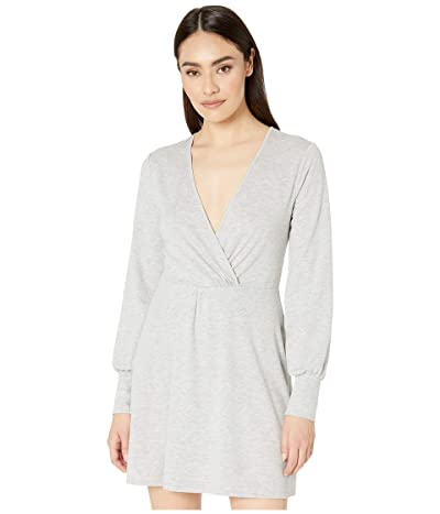 BCBGeneration Twist Front Long Sleeve Dress TQF6263720 (Heather Grey) Women