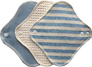 (すぃーと・こっとん) sweet cotton 布ナプキン ネルライナー3枚セット 綿100% パンティライナー(スカイマリンセット)…