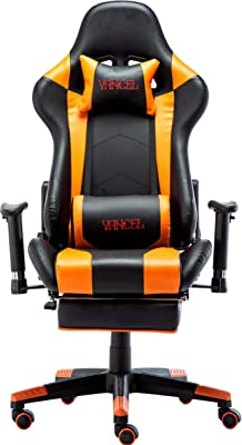 VANCEL Computer Gaming Chair Racing Style with Footrest Ergonomic High Back Swivel Home Office Chair with