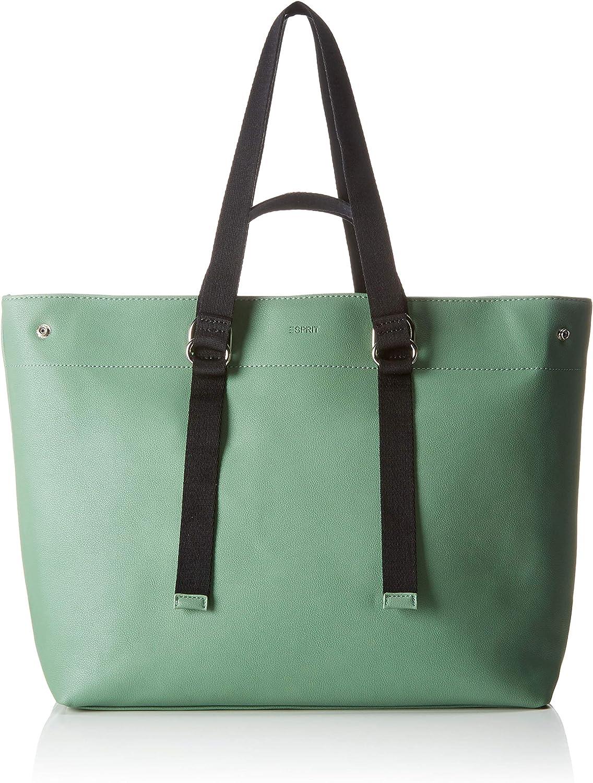 Esprit Accessoires 039ea1o030, Women's Shoulder Bag, Green (Dusty Green), 11x32x38 cm (B x H T)
