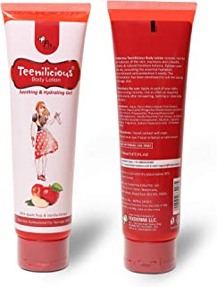 Teenilicious Apple Fruit Body Lotion Vitamin E Soothing, Hydrating Gel With Vanilla For Women And Girls, 5.29 Oz