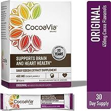 CocoaVia Heart & Brain Supplement, Original Flavor, Drink Mix l Vegan and Plant Based l Cocoa Flavanol Supplement for Impr...