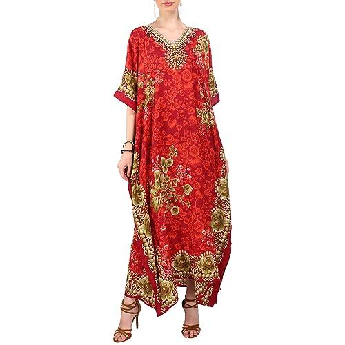 8ac3af3a4e7 Kaftan Tunic Kimono Dress Ladies Summer Women Evening Maxi Party Plus Size  6-24