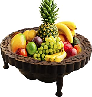 Arts of Creation Star Shaped Wooden Fruit Basket Stand for Display Storage Collapsible Tabletop Kitchen Accessory Fruit Home Kitchen Cabinet Decoration Food Model