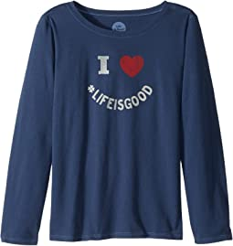 I Heart LIG Long Sleeve Crusher Tee (Little Kids/Big Kids)