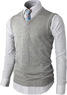Mens Casual Slim Fit Pullover Sweaters Vest Knitted Thermal Basic Designed