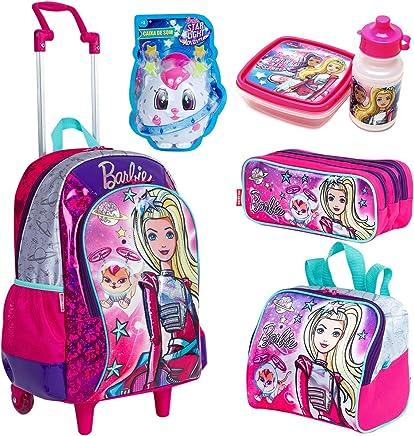 554b8c3a3 Kit Mochila Infantil Barbie Aventura Nas Estrelas Lancheira Estojo Verde