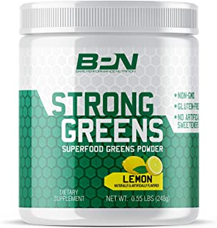 Bare Performance Nutrition, Strong Greens Superfood Powder, Antioxidants, Non-GMO, Gluten Free and No Artificial Sweetener...