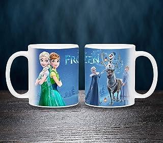 Kids Frozen characters Printed Mug - 11 oz White Mug printed with box