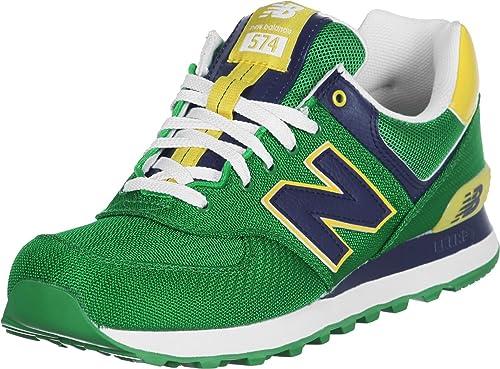 New Balance ML 574 PGN Green Yellow 41.5: Amazon.co.uk: Shoes & Bags