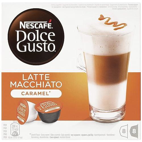 NESCAFÉ Dolce Gusto Café Latte Macchiato Caramel, Pack de 3 x 16 Cápsulas - Total