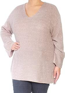 Women's V-Neck Flare-Sleeve Sweater