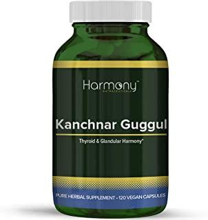 Kanchnar Guggul – Thyroid & Glandular Harmony – 120 Vegan Capsules – Harmony Nutraceuticals Guggul Resin