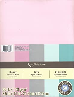 """Recollections Cardstock Paper, 8 1/2"""" x 11"""" Dreamy - 50 Sheets"""