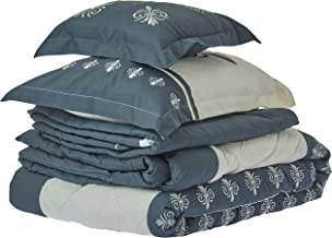 Double Comforter 8Pcs Set by Hours, King Size, ALINA-07