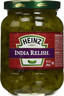 Heinz India Relish 10oz Glass Jar (Pack of 3)