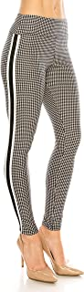 Legging Women Track Pants - High Waisted Premium Soft Stretch Buttery Racing Stripe