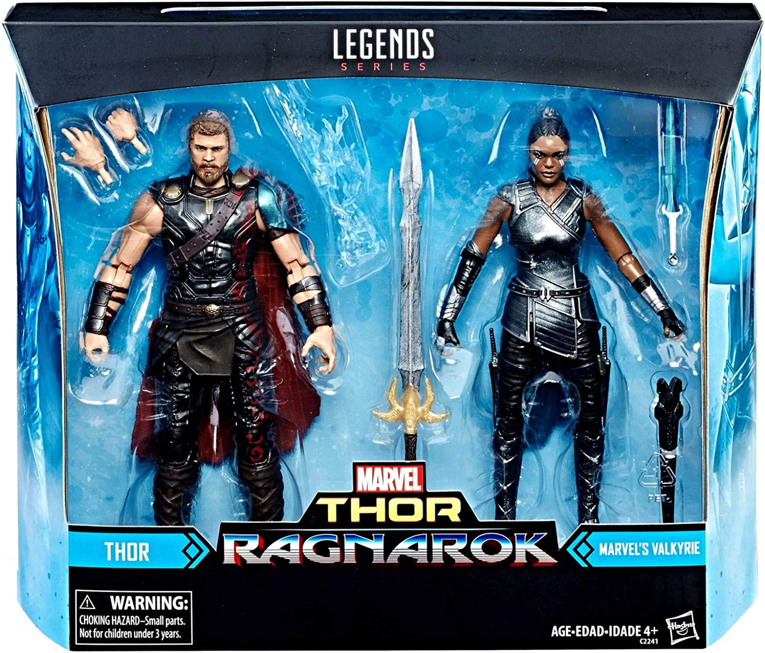 Marvel Hasbro Legends Thor Ragnarok Movie 2Pack Thor and Valkyrie