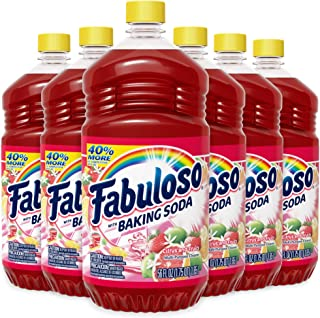 Fabuloso All Purpose Cleaner Bulk, Baking Soda, Bathroom Cleaner, Toilet Cleaner, Floor Cleaner, Shower and Glass Cleaner,...