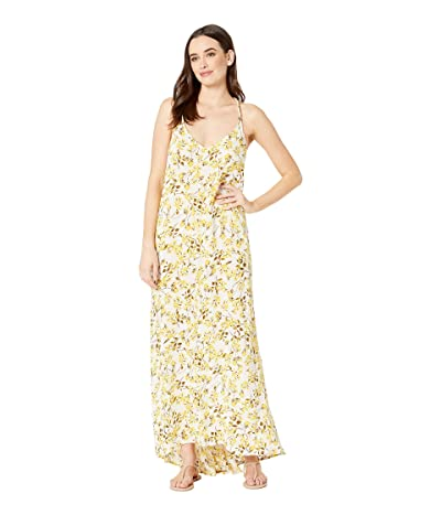La Blanca Rise N Shine V-Neck Maxi Dress Cover-Up (Sunshine) Women