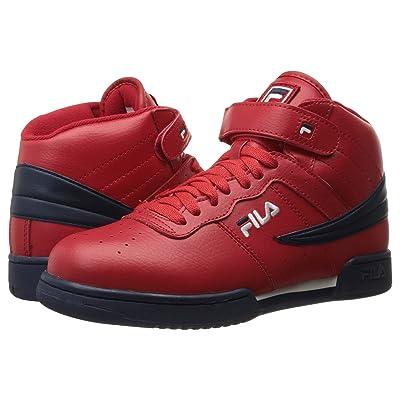 Fila F-13V Leather/Synthetic (Fila Red/Fila Navy/White) Men