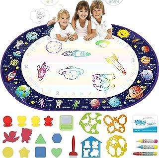 AQUA COMMERCE Extra Large Aqua Magic Water Doodle Mat Water Drawing Coloring & Doodling Mat for Toddler Teaching & Colorin...