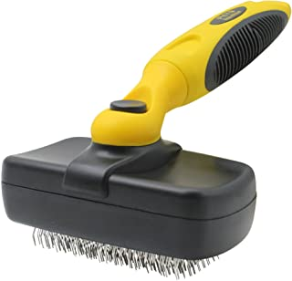 Pet Republique Slicker Brush for Cats & Dogs - Self Cleaning Mechanism - for Large to Small Dogs, Cats, Puppy, Rabbits, An...