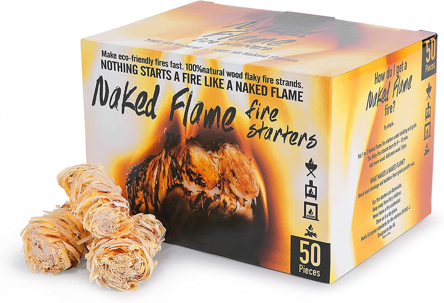 Naked Flame Fire Starter Natural Fast Lighting Latest item Pieces Special price 50