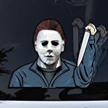 WiperTags Masked Serial Killer with Decal attaches to Rear Vehicle Wiper