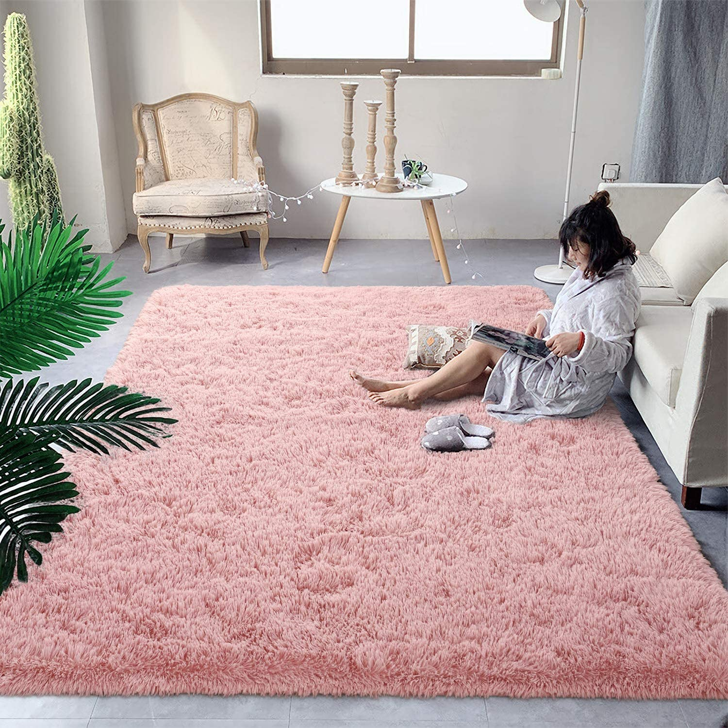 DweIke Soft Fluffy Shag Area Manufacturer direct delivery Rugs Ranking TOP16 Shaggy for Living Room Floor