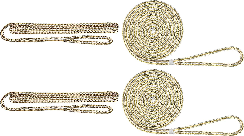 Black Extreme Max Standard 3006.2693 BoatTector Premium Double Braid Nylon Dockside Rope Value Pack-1//2