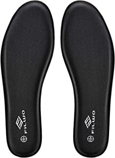 FILWO Memory Foam Insoles Men Comfy Soles Replacement, Walking Boots Insole Inserts for Sports Running Shoes Trainers Sneakers Working Shoes, Comfort Insoles Cushion Soles 1Pair Women US8.5 EU40 Black