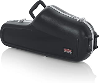 Gator Cases Lightweight Molded Alto Saxophone Case with Locking Latch and Plush Lined Interior; (GC-ALTO SAX)