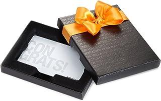 Amazon.com Gift Card in a Black Gift Box (Congrats White Card Design)