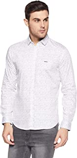 V Dot Van Heusen Men's Printed Slim Fit Casual Shirt